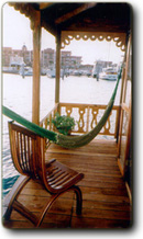Aft terrace with hammock